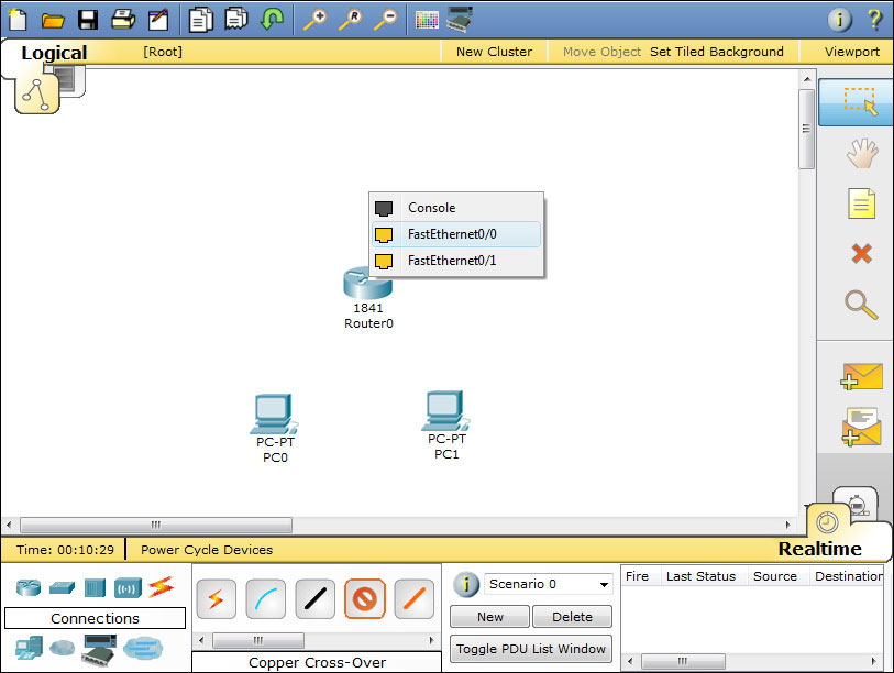 configure a router packet tracer learn networking fastethernet 0 0