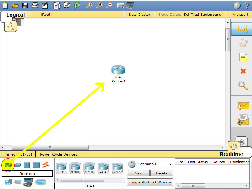 851 packet tracer